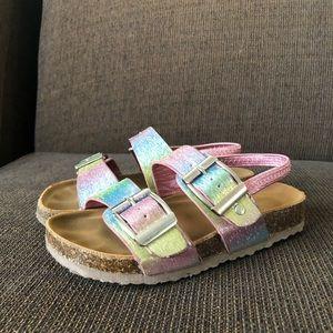 Steve Madden Kids' T-Brando Footbed Rainbow Sandal